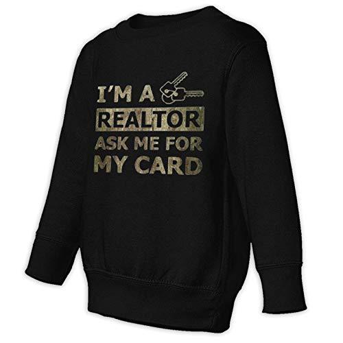 MKDIJIUWL Real Estate Realtor Card Casual Pullover Sweater Kleinkind Juvenile Sweatshirt für Kinder Gr. 98, Schwarz