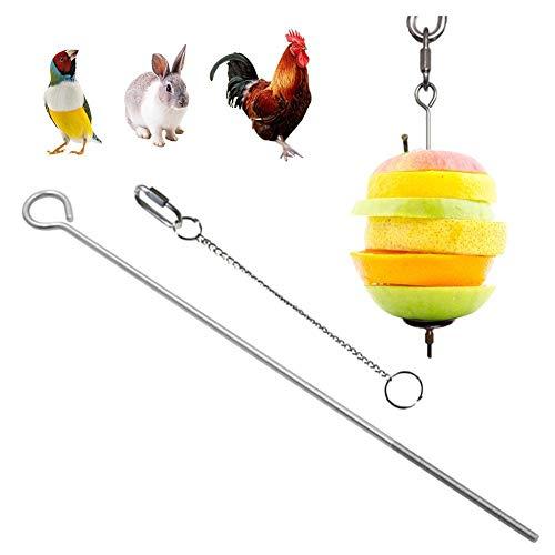 fllyingu Papageien-Spieß Obst- und Gemüsehalter für Vögel Papageien Behandlung Werkzeug,Gemüse-Spieß für Papageien, Wellensittiche, Sittiche, Nymphensittiche