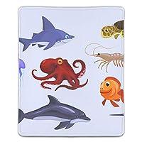 マウスパッド ゲームパッド ゲームプレイマット ワイヤレスマウスパッド 様式化された漫画の水中動物 オフィス最適 高級感 おしゃれ 流行