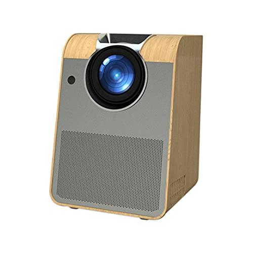 Proyector, Pequeño Proyector Inteligente De Cine En Casa Ultra Claro Portátil 4K, Cine En Casa Inalámbrico WiFi, Adecuado para Video, TV, Películas,Gray