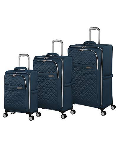 it luggage Admire Softside Lightweight Spinner, Majolica Blue, 3-Piece Set (22/28/32)