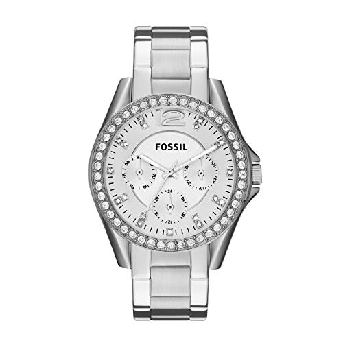 Fossil Women's Riley Quartz Stainless Multifunction Watch, Color: Silver (Model: ES3202)