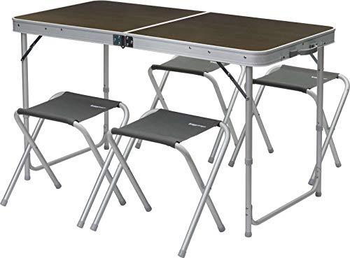 BERGER Picknicktisch Campingtisch Gartentisch Esstisch Klapptisch Sitzgruppe Stuhl Hocker Aluminium