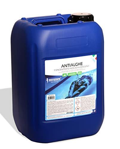 San Marco Antialghe Liquido per Piscina concentrato Non schiumogeno Fusto da 10 Lt.