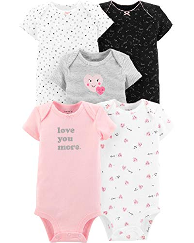 Carter's Baby Girls' 5 Pack Bodysuit (Baby