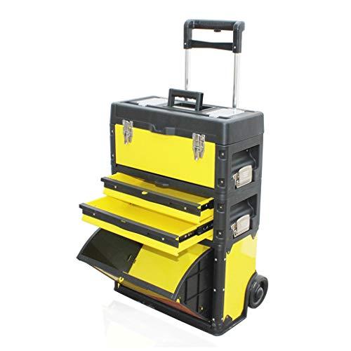 Caja de herramientas Caja de herramientas apilable balanceo Organizador móvil con agarre cómodo Mango multifuncional grande Combinación Caja de Herramientas de sistema de almacenamiento móvil con rued