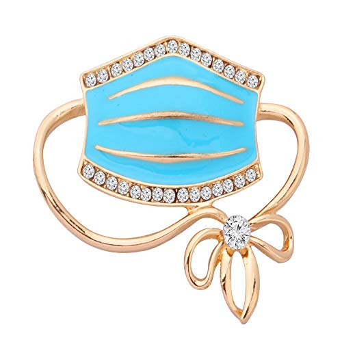 BAUNA Funny Social Distancing Jewelry Mask Brooch with Rhinestone 2020 Anti-C0ronaVirus Pandemic Gift (Mask Brooch)