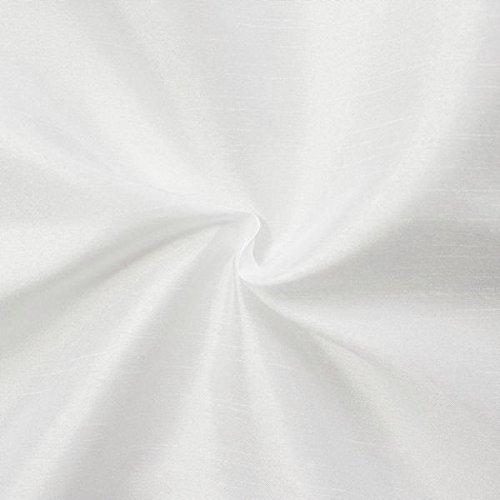 Unbekannt Kleidertaft Dekotaft Dupionseide Optik Meterware Weiss