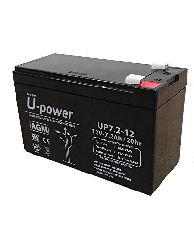 Batería monoblock AGM U-Power 12V 7.2Ah sin mantenimiento