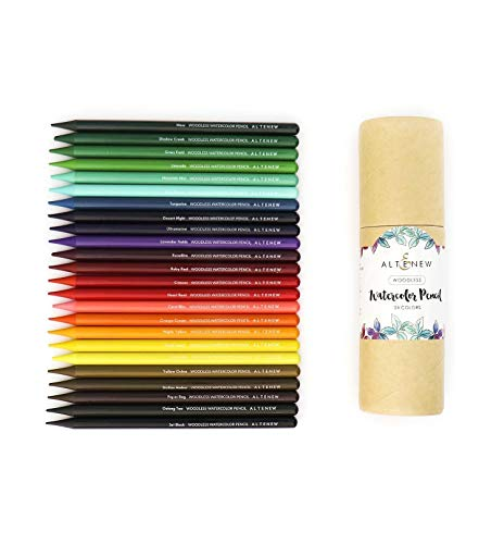 Altenew Woodless Watercolor Pencil 24 Set, Pre-Sharpened, Easy Blending, Artist Watercoloring, Artist Coloring Pencils, Dissolves Smoothly