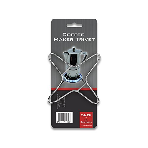 Café Ole Coffee Maker Trivet, Stainless Steel, 9.5 x 9.5 x 0.6 cm