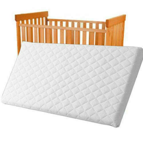 Breathable Baby Cot Bed Mattress Quilted Extra Thick Depth Fits Mothercare and Mamas & Papas Sizes (120 X 60 X 7.5CM)