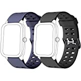 Yishark Cinturino per ID205 ID205L ID205S ID205U ID205G Orologio Fitness Tracker Cinturino di Ricambio per Smartwatch Activity Tracker (Nero + Blu)