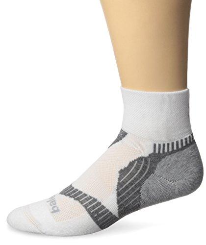 Balega Herren Enduro V-Tech Quarter Socken, weiß/grau, XL