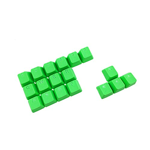 Rubber Double Shot Backlit Gaming Keycaps Set - for Cherry MX Mechanical Keyboards Compatible OEM Include Key Puller (Neon Green)
