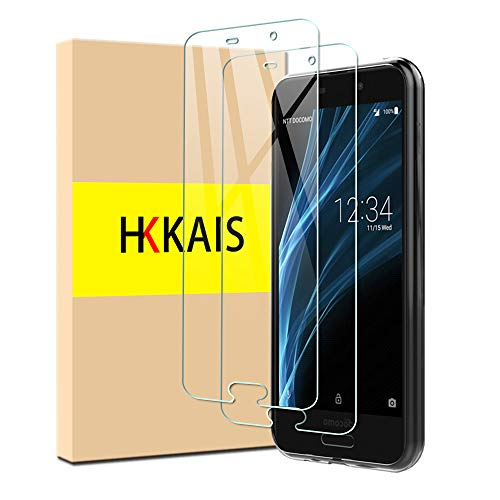 【2枚セット】HKKAIS AQUOS sense SHV40 SH-01K フィルム ガラスフィルム 強化ガラス 保護フィルム 液晶 ケース フィルム カバー 日本旭硝子製 防指紋 透過率99.9% 気泡ゼロ (AQUOS sense SHV40 SH-