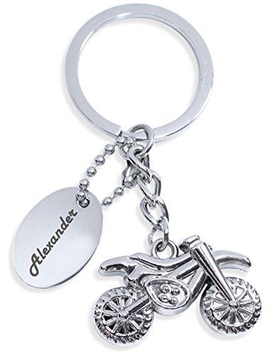 Miniatur Motorrad Bike Form Schlüsselanhänger mit persönlicher Gravur - SchA011-mG
