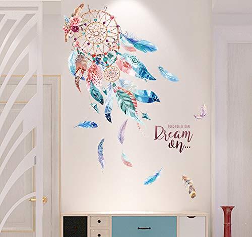 EXQULEG WandSticker, DIY Klebend Blumen set,Wandsticker Blumen, Wandbild: 98x100 cm, Deko für Wohn-Schlafzimmer Kinderzimmer Küche Flur (F)