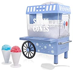 Approximate capacity - whether party time or snack time, This unit can hold up to 20 (8 ounce ) snow cones at a time. Nostalgia snow cone kits - unit works perfectly with all Nostalgia snow cone kits - try the snow cone kit (Sck3), snow cone syrups (...