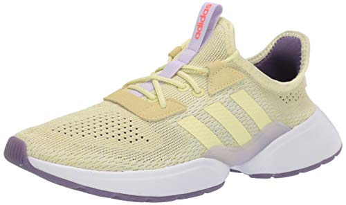 adidas Women's Mavia X Running Shoe, Yellow Tint/Yellow Tint/Purple Tint, 7.5