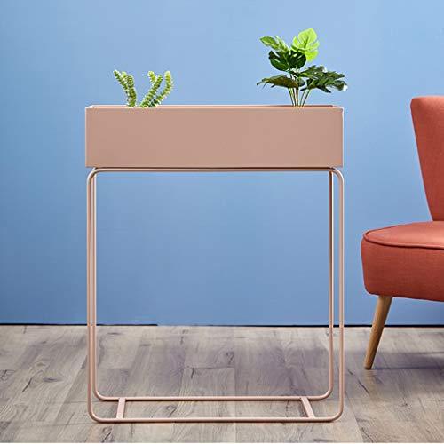 Blumenkastenständer for Gartenpflanzgefäße, Aufbewahrungsregal for Eisenblumentöpfe im Innen- und Außenbereich, Blumenkasten-Auslagefach Design Garden & Home (Color : Pink)