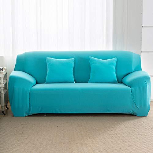 KTUCN Funda Universal para Sala de Estar para sofá, Fundas de sofá seccionales para el hogar, Funda de sofá elástica de Spandex, 1/2/3/4 plazas, Cielo Azul, A-B 145-185cm
