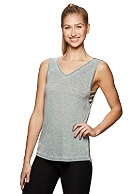 RBX Active Side Strappy Yoga Workout Tank Top
