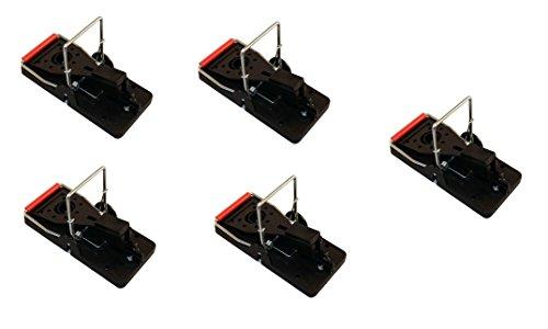 ARTECSIS Juego de Las ratoneras (5X), trampas de Ratones, Gran Poder de Impacto, Gran Fuerza, fácil manejo, Cazar Ratones eficientemente, Practica Exterior e Interior