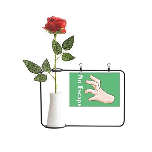 OFFbb-USA No Way Out Catch Gesto Captador Artificial Rosa Flor Pendurada Decoração Garrafa