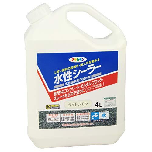 アサヒペン 水性シーラー ライトレモン 4L