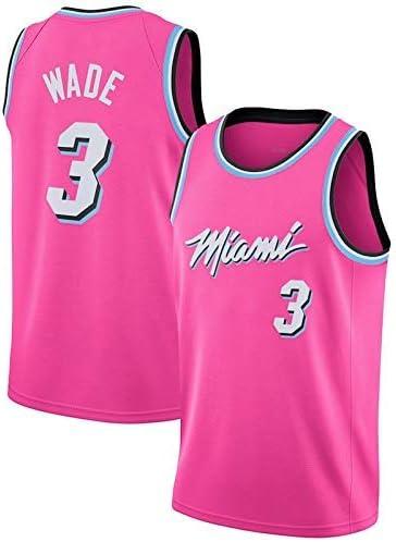 Dwyane Wade, Chaleco de Baloncesto Miami Heat Man, Camiseta Transpirable de Secado rápido, edición Rosa: Amazon.es: Deportes y aire libre