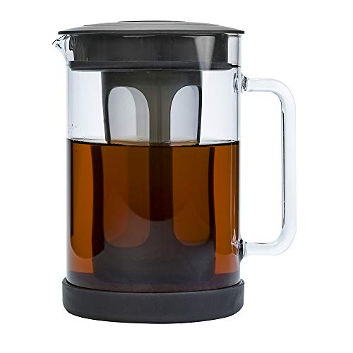 Primula Pace Cold Brew Iced Coffee Maker with Durable Glass Pitcher and Airtight Lid, Dishwasher Safe, Perfect 6 Cup Size, 1.6 Qt