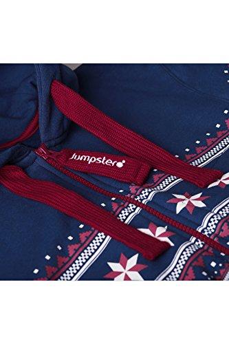 Jumpster Damen und Herren Jumpsuit Langer Overall Alpaka Slim Fit Blau - 4