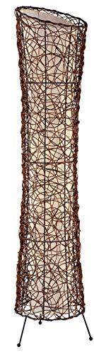 Nino Leuchten Stehleuchte Ruth / Höhe: 120 cm , Durchmesser: 25 cm / Rattan, innenliegender Stoffschirm / 2-flammig 40020243