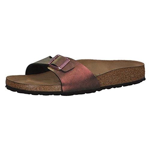 BIRKENSTOCK Madrid BF Graceful Damen Sandaletten,Frauen Sandalen,elegant,edel,Seidenglanz,Orig Fußbett,Rot,EU 42S