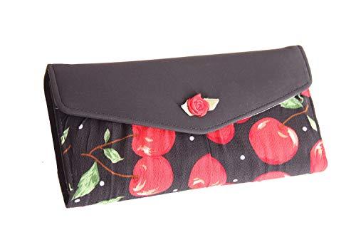 SugarShock Jolin Damen Geldbörse mit Kirschen, Farbe:Schwarz