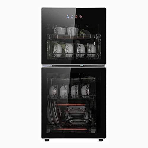 YangJ 80L Desinfektionsschrank Vertikal, Gewerblicher Küchengeschirr Desinfektionsschrank klein, schwarz (Spannung: 220V / Leistung: 700W)