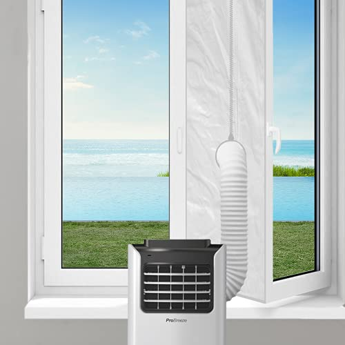 400CM Window Seal Kit for Portable Air Conditioner and Tumble Dryer, Pro Breeze Universal with Adjustable Opening, Fits Any AC Unit Exhaust hose, Easy to Install - Designed for Hinged Windows 400cm