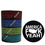 Jake's Mint Chew Minty Sampler Pouch 4 Can Variety with DC Crafts Nation Skin Can Cover - America