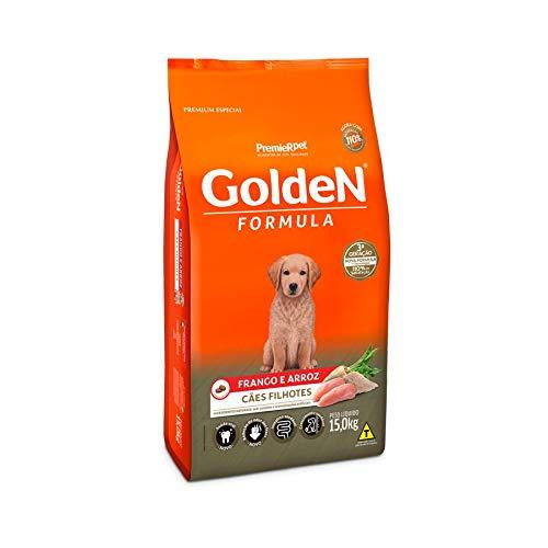 Ração Golden Filhote Sabor Frango e Arroz para Cães, 15kg Premier Pet Para Todas Grande Filhotes, Sabor Frango