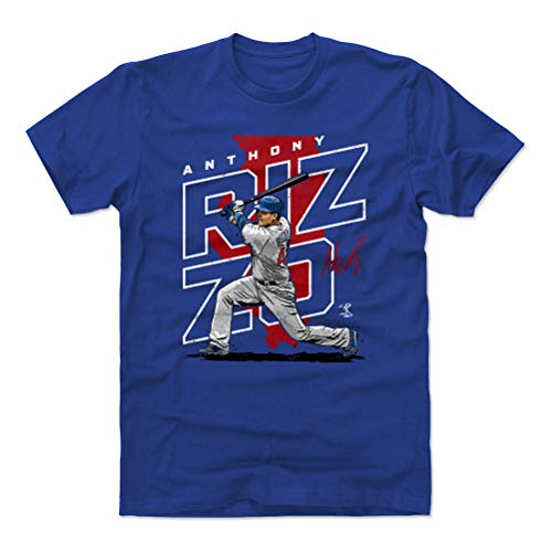 500 LEVEL Anthony Rizzo Shirt (Cotton, X-Large, Royal Blue) - Chicago Men's Apparel - Anthony Rizzo Player Map R WHT
