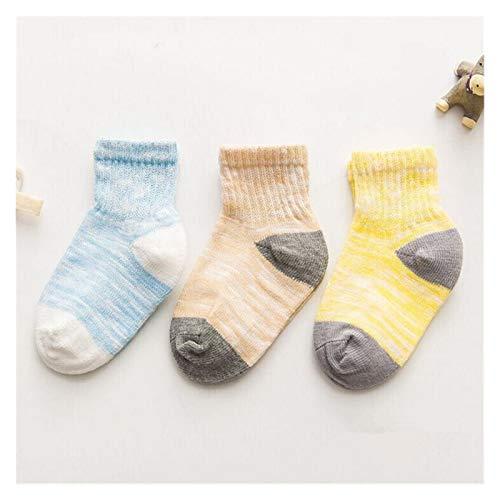 Calcetines Hasta Rodilla Niñas 1pair antideslizante piso niños niños pequeños otoño primavera ancla ancla algodón recién nacido calcetines de bebé Niña ( Color : Blue control , Kid Size : 3m/9.8ft )