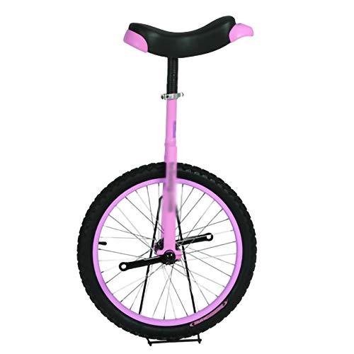 YYLL Rosa Einrad Transport Werkzeug Anfänger Competitive Bike Kinder 18 Zoll Einrad Balancen-Fahrrad for Outdoor Sport Fitness (Color : Pink, Size : 18Inch)