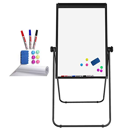 top rated Stand Whiteboard Magnetic 40 x 28 inch Dry Eraser Board Double-sided Adjustable Easel Portable… 2020