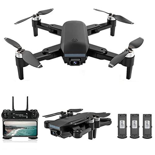 JJDSN Drone con Doppia Fotocamera 4K per Adulti e Bambini GPS WiFi FPV Motore brushless Pieghevole RC Quadcopter 66 Minuti di Volo, batteria3, ritorni GPS, Smart Follow, Surround a Punto Fisso