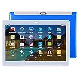 Tabletas 3G llamada de teléfono de la tableta, de 10,1 pulgadas 2.5D, 2 GB + 32 GB, asistencia de Google Play, Android 7.0 MTK6580 de cuatro núcleos a 1,3 GHz, con estuche de cuero ( Color : Blue )