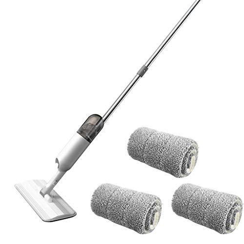Luccase Spray Bodenwischer Mop 126 × 38 × 12 cm Bodenwasser Quick Mop mit Wiederverwendbarem Mikrofaserpolster und 360-Grad-Moppgriff Wasserspray Mop für Alle Bodentypen (C)