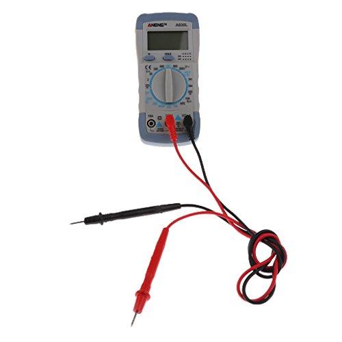 Preisvergleich Produktbild LCD Digital Multimeter Multitester DC Wechselspannung Multi Tester A830L - Grau Mit Weiß