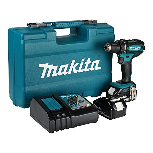 Makita Bohrmaschine/Akkuschrauber 18V, Li-Ion-Akku, 3Ah Ø 13mm + Zubehör-Set–DDF482RFX1