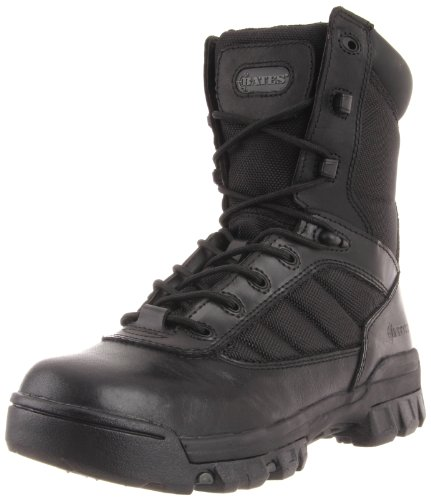 "Bates womens 8"" Ultralite Sport Side Zip military and tactical boots, Black, 6.5 US"